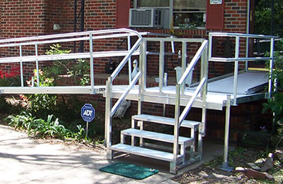 Aluminum Ramp with Side Steps