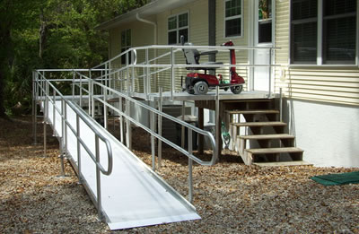 Ramp With Handrails